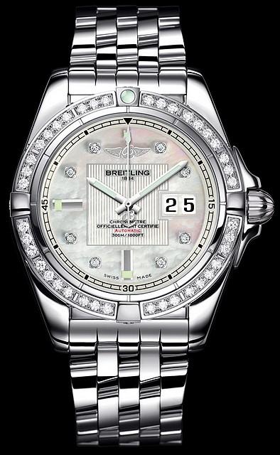 181b9e90256 Legenda – diamantové hodinky Breitling (http   www.luxurymag.cz)