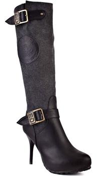 ... Černé kozačky – na klínku i bez podpatku (http   www.luxurymag ca0a1ac006