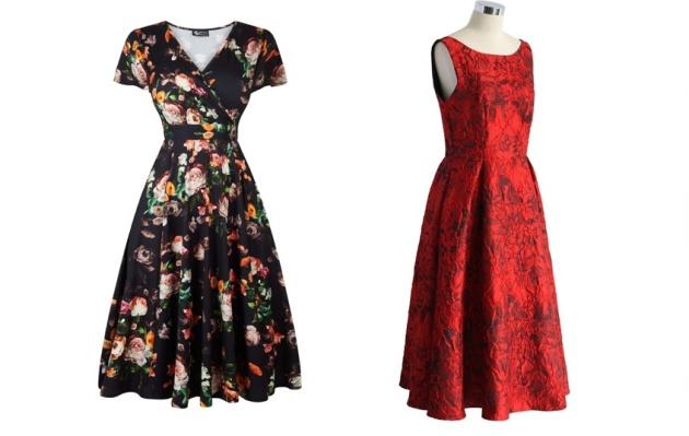 5ef89743b5b Šik budou černé květované šaty Lady V London Lyra nebo šaty Chicwish  Glamour.