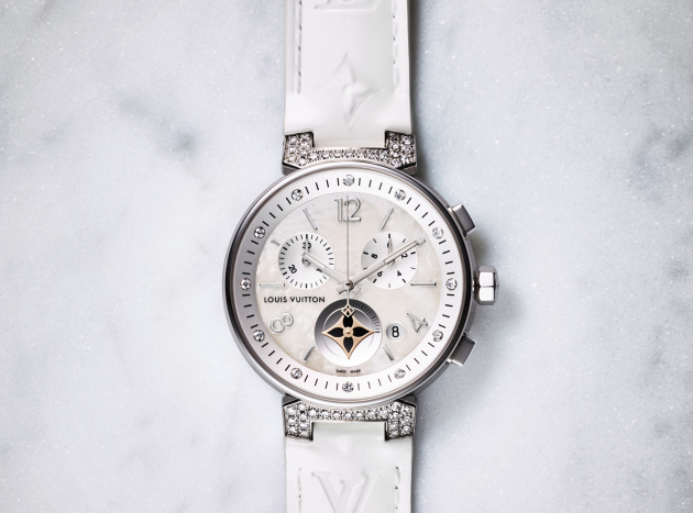Tambour Moon Star Chronograph White MOP and dia