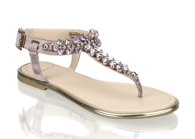 sandals OMG! with lilac stone decoration; 999 CZK