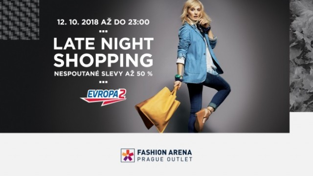 Noční party ve Fashion Arena Prague Outlet s Evropou 2