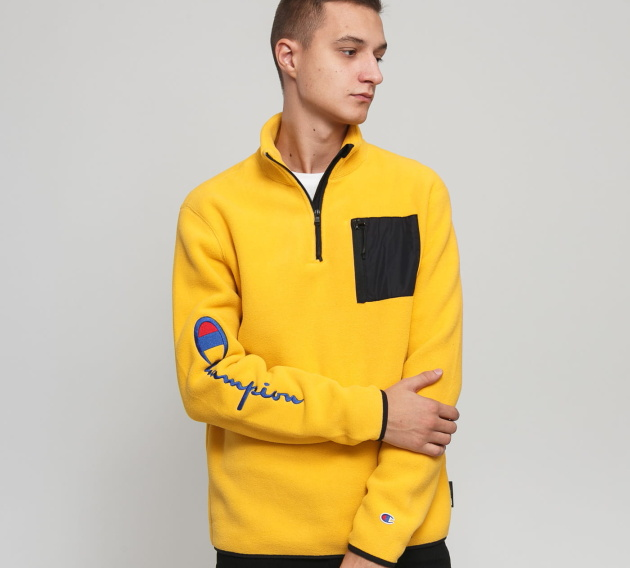 Champion Reverse Weave Script Arm Half Zip Fleece