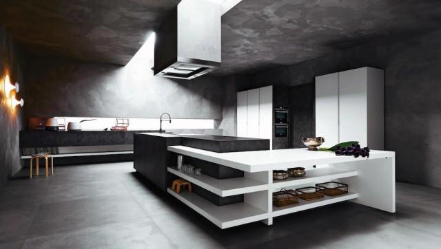 Modern kitchen with Italian design.  Source: IDWItalia.com