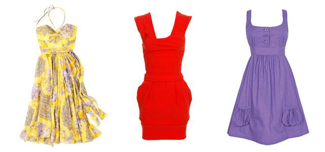 Dámské letní šaty - inspirace na prázdniny / šaty na léto 2008